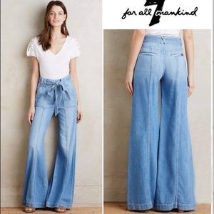 7 FOR ALL MANKIND Paper Bag Palazzo Wide Leg Jean